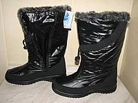 Флоаре сапоги-дутики зимние женские р.36,37,38,39 черные без шва подъема