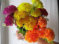 """Ветка из искусственных цветов """"Гвоздика"""""""