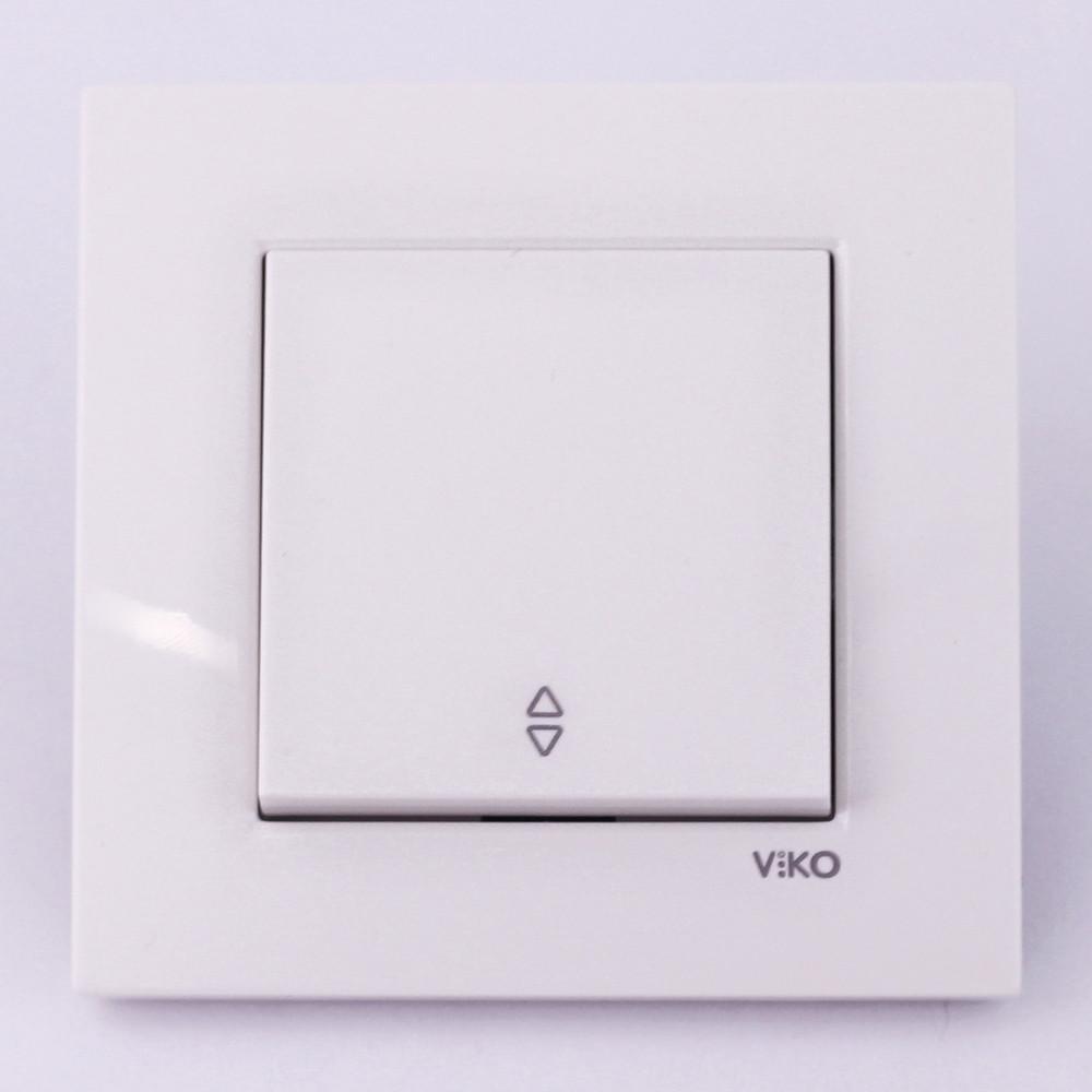 Выключатель одноклавишный проходной VI-KO Karre скрытой установки (белый)