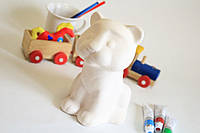 Тигренок - керамическая игрушка для рисования.