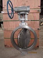Затвор дисковый стальной с редуктором Ду600 Ру16