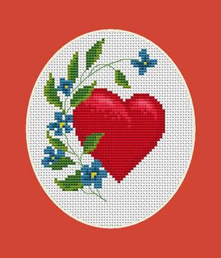 """Набор для вышивания нитками  """"Валентинка"""", фото 2"""