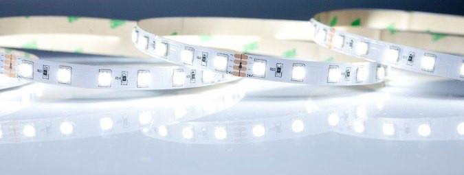 Светодиодная лента smd 5050 30д/м IP65 белый