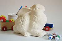 Керамический Зайчик - игрушка для творчества.