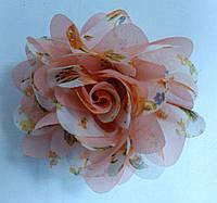 Цветок шифоновый двухцветный