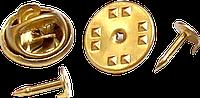 Крепление для значков и бейджей - бабочка с гвоздиком 8 мм
