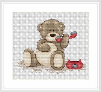 """Набор для вышивания нитками  """"Медвежонок Бруно"""""""