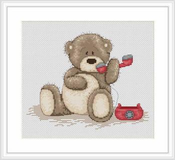 """Набор для вышивания нитками  """"Медвежонок Бруно"""", фото 2"""