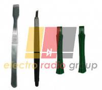 Набор инструментов  BAKKU  BK-7280-B (2 скальпеля + 2 пластиковые лопатки для разборки корпусов)