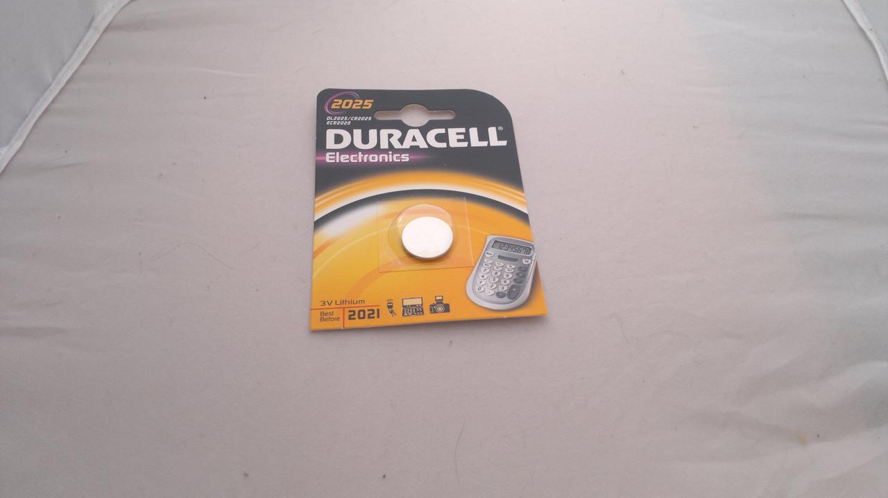 Батарейка для часов. Duracell CR2025 3.0V 140mAh 20x2.5mm. Литиевая