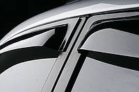 Дефлекторы окон (ветровики) BMW X3, 2011-, 4дв., темный/хром