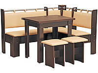 Кухонный уголок Гетьман (стол раскладной+диван+2 табурета)