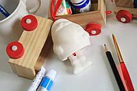Керамическая игрушка Дед мороз с ногами.
