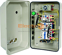 """Пускатель (контактор) ПМЛк-1 32А+реле+таймер+контакт приставка в метал. оболочке, Ue=220В/АС3, IP 65 ТМ """"Electro"""""""