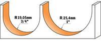 Фреза для гравировки СМТ радиусная D50,8-R25,4-l31,7-L69,8-d12