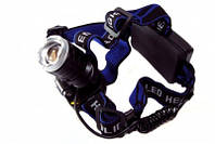 Налобный фонарь Police 86 New XPE Q5, для туризма, велосипедистов, три режима, аккумуляторный, фонарик на лоб