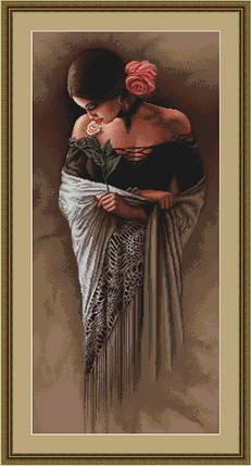 """Набор для вышивания нитками  """"Испанка с цветком"""", фото 2"""