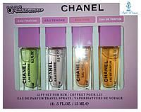 Парфюмерный набор с феромонами Chanel Chance Шанель Шанс мини 4 по 15мл женский топ аромат