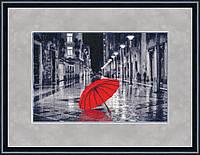 """Набор для вышивания крестом """"Красный зонтик"""""""