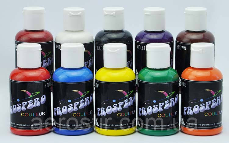 Краски для аэрографии Prospero acrylic base 10-60