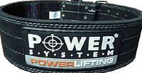 Пояс для штангиста Power System кожа/замша,