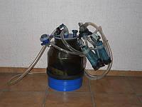 Доильный аппарат в ведро без вакуумного насоса