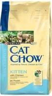 Сухой корм для котят Cat Chow Kitten с курицей, 15 кг