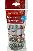 Profissimo Edelstahl-Topfreiniger - Губка из нержавеющей стали для мытья посуды, 3 шт
