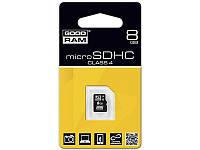 Карта памяти micro-SD HC 8GB GOODRAM (class 4) без адаптера