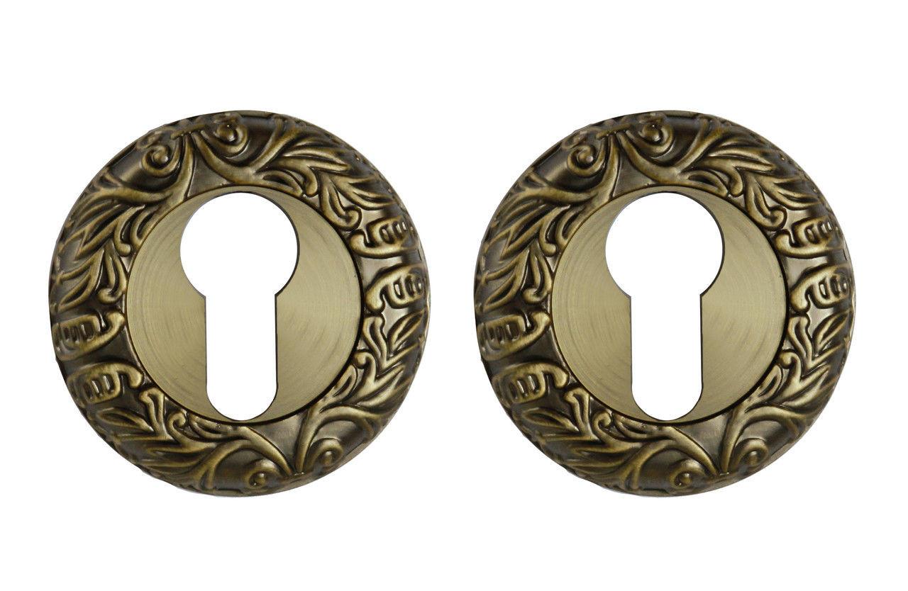 Накладка на цилиндр круглая (античная бронза)