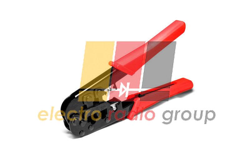 Инструмент LPT-14 для обжимки RJ-45 (8P8C) и RJ-12/11 (6P6C), резиновые ручки