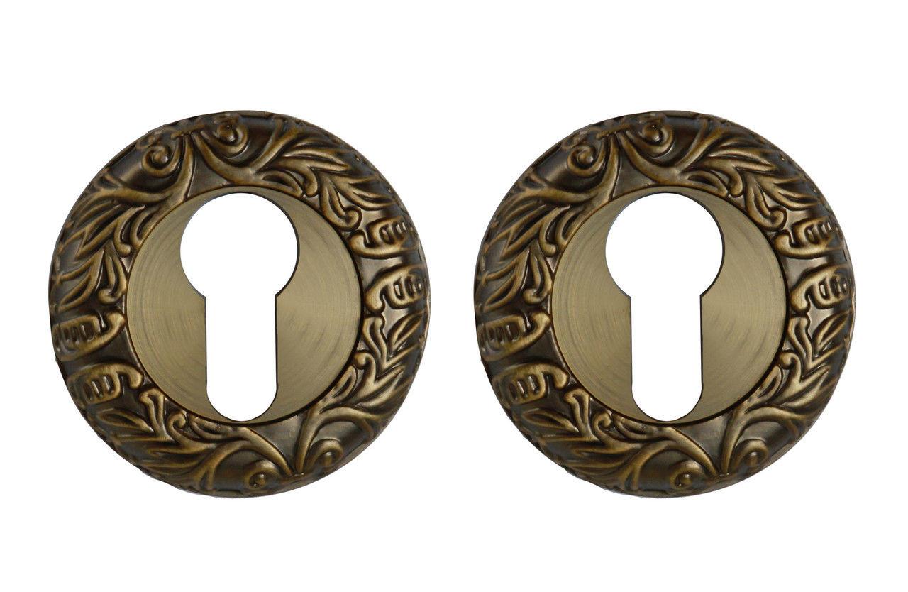 Накладка на цилиндр круглая (античная медь)