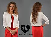 Женский стильный короткий пиджак