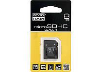 Карта памяти micro-SD HC 8GB+adapter SD GOODRAM (class 4)