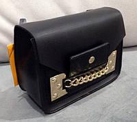 Сумка клатч через плечо черный эко-кожа, замш, лаковый, фото 1