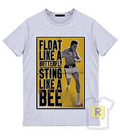 "Футболка ""Float like a butterfly sting like a bee"""