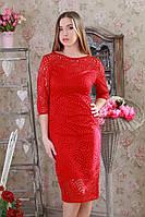Однотонное женское гипюровое платье из новое коллекции