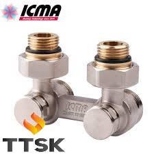 Двухтрубный сдвоенный вентиль радиаторный ICMA  (арт. 884)