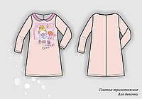 Пошив изготовление трикотажных платьев для девочек под заказ оптом