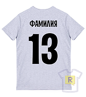 Заказать футболку и нанести номер и фамилию в Киеве