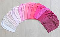 Демисезонные шапочки бини бело-розовых оттенков. , фото 1