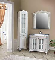 Комплект мебели Атолл Александрия слоновая кость серебро камень 85