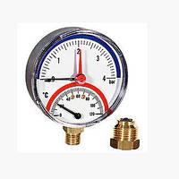 "Термоманометр осевой Watts 0-120° 4бар 1/2"""