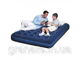 Матрас надувной двухспальный для сна  203х152х22см