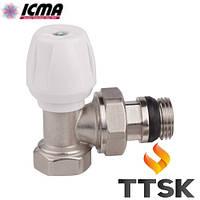 Ручной угловой вентиль простой регулировки ICMA (арт. 802+940)