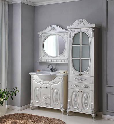 Комплект мебели Ольвия (Атолл) Наполеон-85 белый жемчуг, фото 2