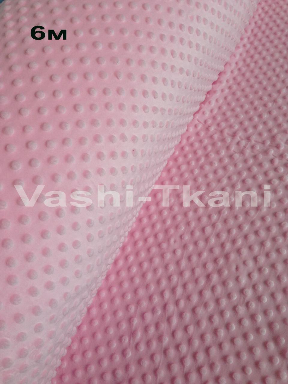Плюшевая ткань Minky светло-розовый плотность 280 г/м.кв