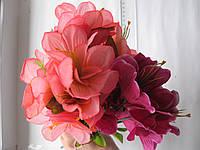 """Ветка из искусственных цветов """"Букет георгин"""""""
