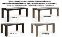 Стол Рапалло, Роял 200*90*72, мебель для дома, мебель для сауны, мебель для ресторана, мебель для бассейна