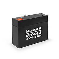 Mastak 4V 1300mAh  23*34*91 137г АКБ Герметичный свинцово-кислотный аккумулятор SLA